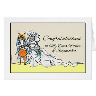 Carte Félicitations sur le mariage pour le père,