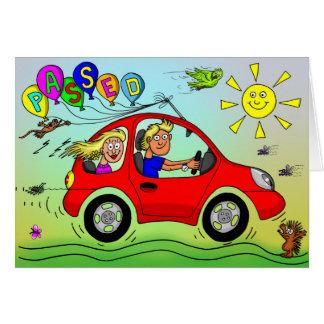 Carte Félicitations sur passer votre examen de conduite