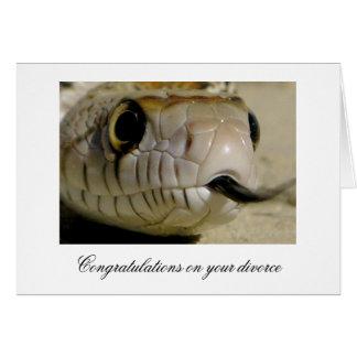 Carte Félicitations sur votre divorce…