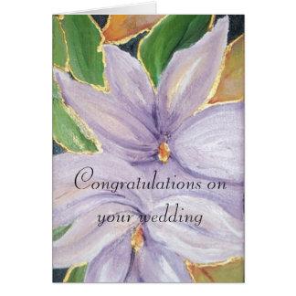 Carte félicitations sur votre mariage