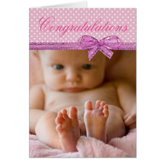 Carte Félicitations sur votre nouveau bébé