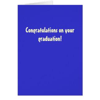 Carte Félicitations sur votre obtention du diplôme !
