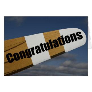 Carte Félicitations sur votre premier pilote de vol solo