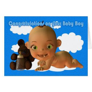 Carte Félicitations un beau bébé