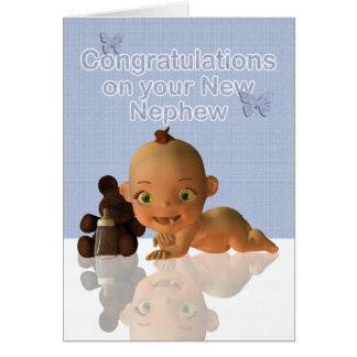 Carte Félicitations une beaux tante et Uncl de bébé