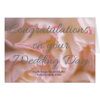 Carte Félicitations votre jour du mariage