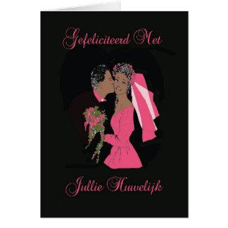 Carte Félicités avec votre mariage