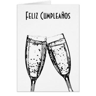 Carte Feliz Cumpleaños/langue espagnole joyeux