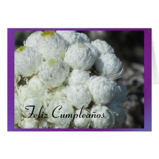 Carte Feliz Cumpleaños - Las Flores Blancas