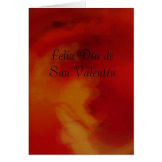 Carte - Feliz Día de San Valentín - Roja-Naranja