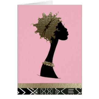 Carte Femme africaine