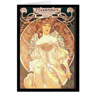 Carte Femme d'Alphonse Mucha Champenois