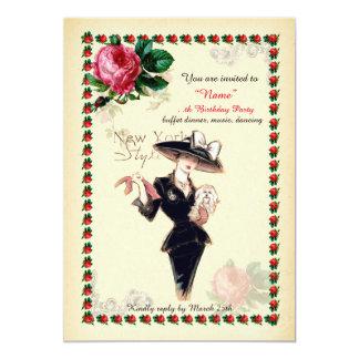 Carte Femme de fête d'anniversaire tout âge, Gatsby, art