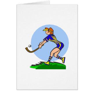 Carte Femme d'hockey de champ