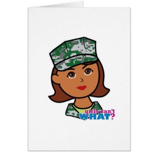 Carte Femme militaire