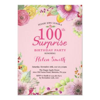 Carte Femmes florales d'invitation d'anniversaire de