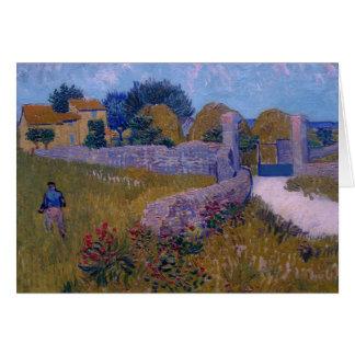 Carte ferme dans provence-1888-vincent Van Gogh