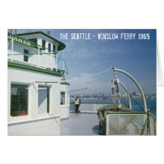 Carte Ferry 1965 de Seattle Winslow