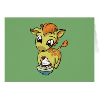 Carte Festin doux ! Girafe
