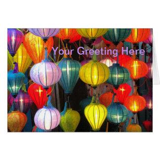 Carte Festival de lanterne Hoi le Vietnam
