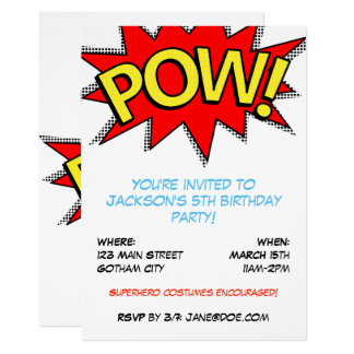 Carte Fête d'anniversaire de costume de super héros