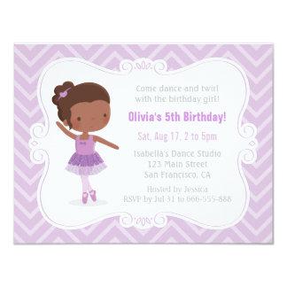 Carte Fête d'anniversaire de fille de ballerine
