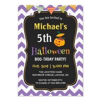 Carte Fête d'anniversaire de Halloween de l'enfant