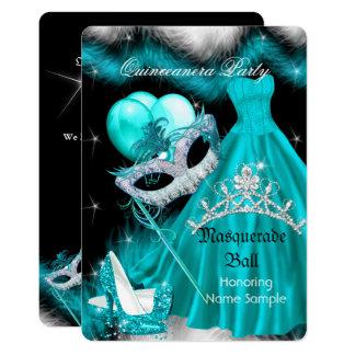 Carte Fête d'anniversaire de Quinceanera de mascarade