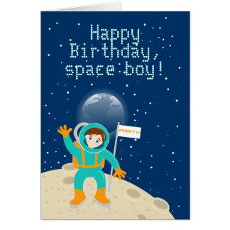 Carte Fête d'anniversaire d'enfant d'astronaute