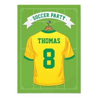 Carte Fête d'anniversaire du football d'enfants | Brésil