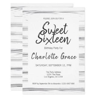 Carte Fête d'anniversaire moderne de sweet sixteen