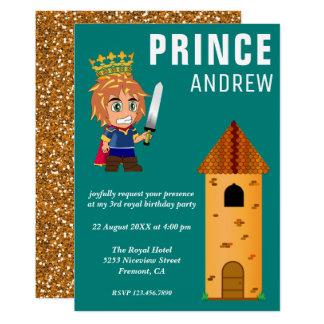 Carte Fête d'anniversaire royale mignonne de prince