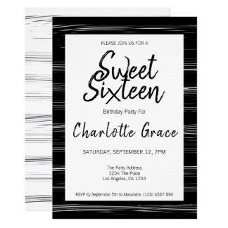 Carte Fête d'anniversaire simple moderne de sweet