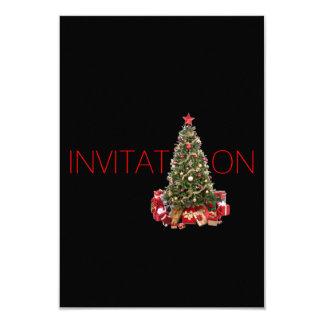 Carte Fête de Noël d'invitation