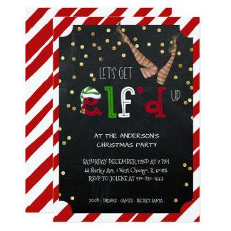 Carte Fête de Noël orientée de vacances d'Elf