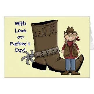 Carte Fête des pères - botte et dent occidentales