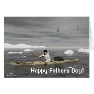 Carte Fête des pères de kayak d'Inuit