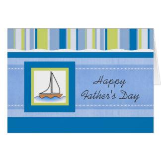 Carte Fête des pères de voilier et de rayures