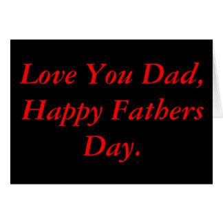 Carte Fête des pères noire et rouge