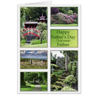 Carte Fête des pères pour le père avec des vues de