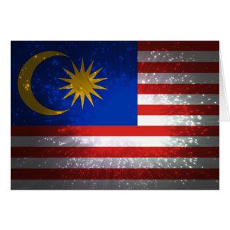 Carte Feu d'artifice de drapeau de la Malaisie