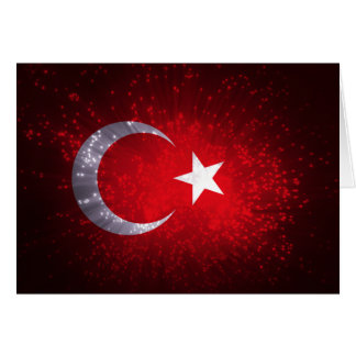 Carte Feu d'artifice de drapeau de la Turquie
