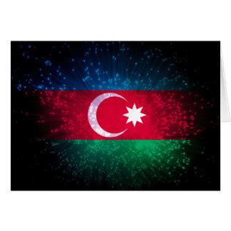 Carte Feu d'artifice de drapeau de l'Azerbaïdjan
