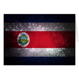 Carte Feu d'artifice de drapeau du Costa Rica