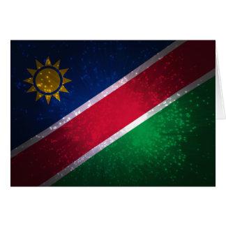 Carte Feu d'artifice ; Drapeau de la Namibie