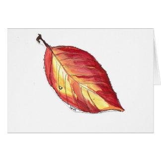 Carte feuille d'automne de cornouiller