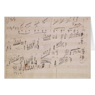Carte Feuille de score de 'clair de lune Sonata