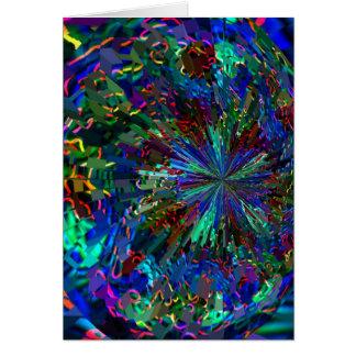Carte Feux d'artifice BLEUS d'étincelle de Zinzelle