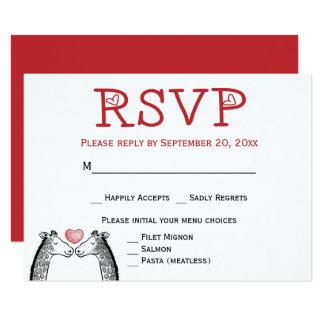 Carte Fiançailles rouge de mariage de Bourgogne de