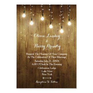 Carte Ficelle rustique d'invitation de mariage